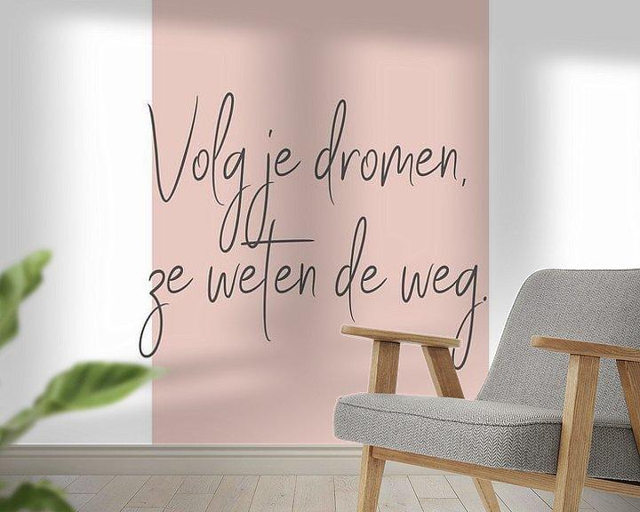 Beispiel fototapete: Poster 'Träume' in allen möglichen Farben! von Design by Tessa