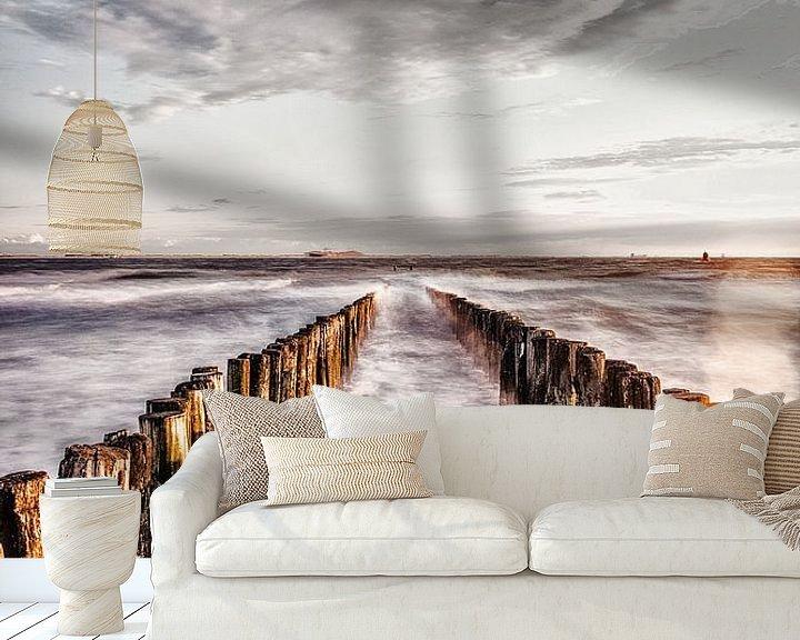 Sfeerimpressie behang: Paalhoofden van Edwin Benschop