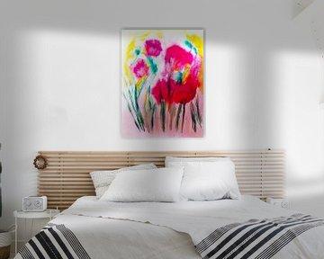 Sommerwiese abstrakt von M.A. Ziehr