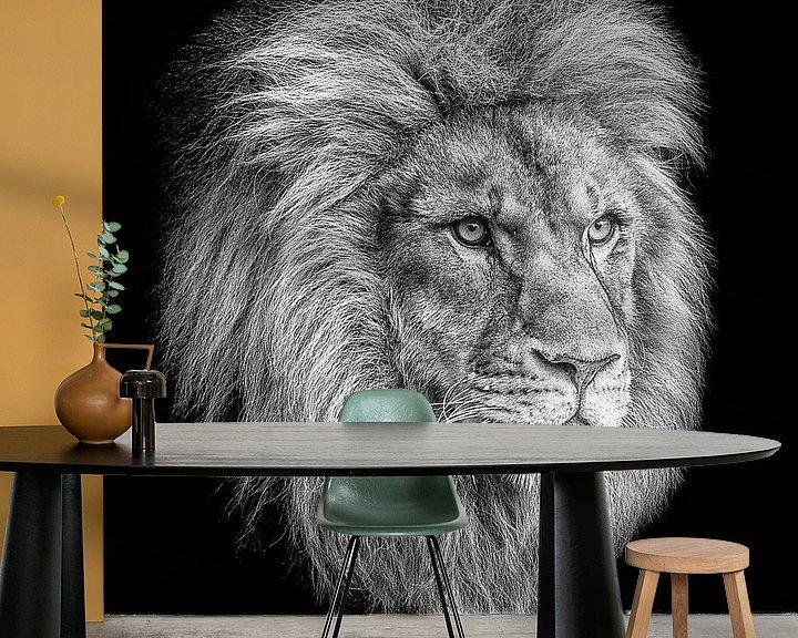 Sfeerimpressie behang: Simba van Edwin Benschop