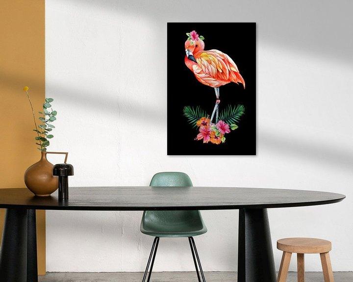 Beispiel: Flamingo von Geertje Burgers