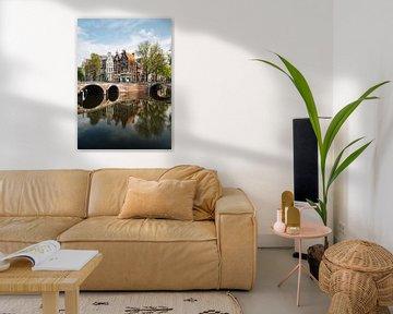 Amsterdam Keizersgracht mit Leidsegracht von Lorena Cirstea