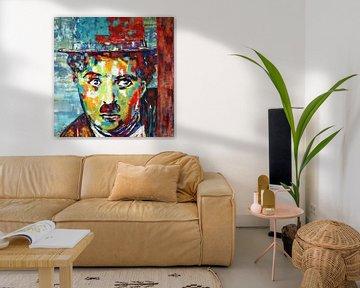 "Charlie CHAPLIN ""Modern Times"" van Kathleen Artist van Kathleen Artist Fine Art"