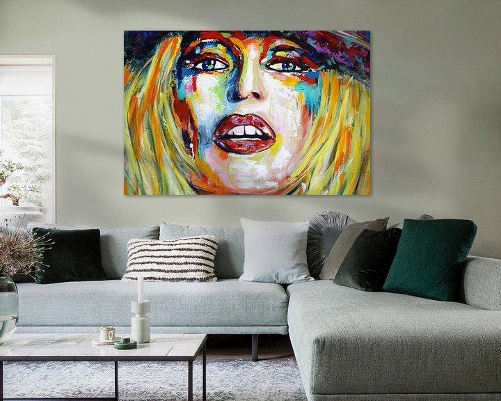 """Beispiel: Brigitte BARDOT """"Rücksicht"""" von Kathleen Artist Fine Art"""