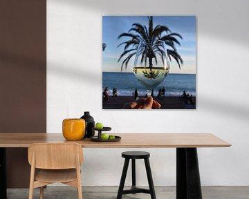 Wijn en Palmboom van Anne Travel Foodie