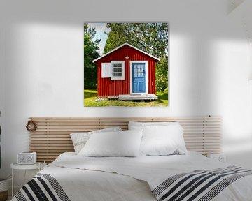 Rood huis in Zweden van Anne Travel Foodie