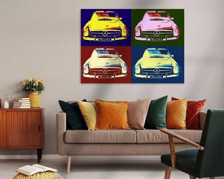 Beispiel: Mercedes Collage von Nicky`s Prints