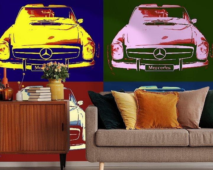 Beispiel fototapete: Mercedes Collage von Nicky`s Prints