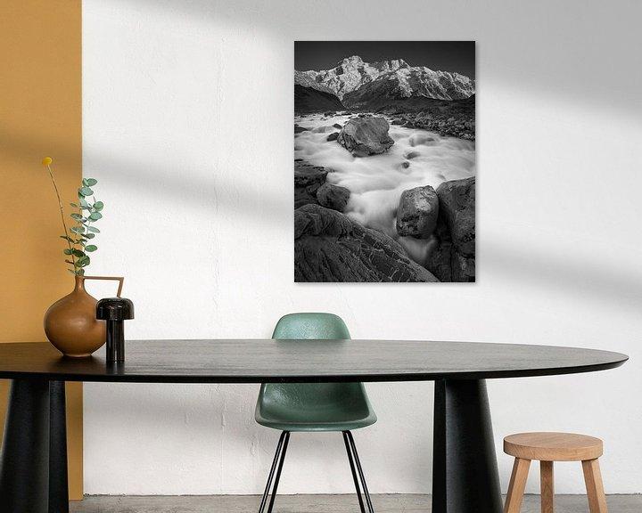 Sfeerimpressie: Hooker River Boulders (B&W) van Keith Wilson Photography