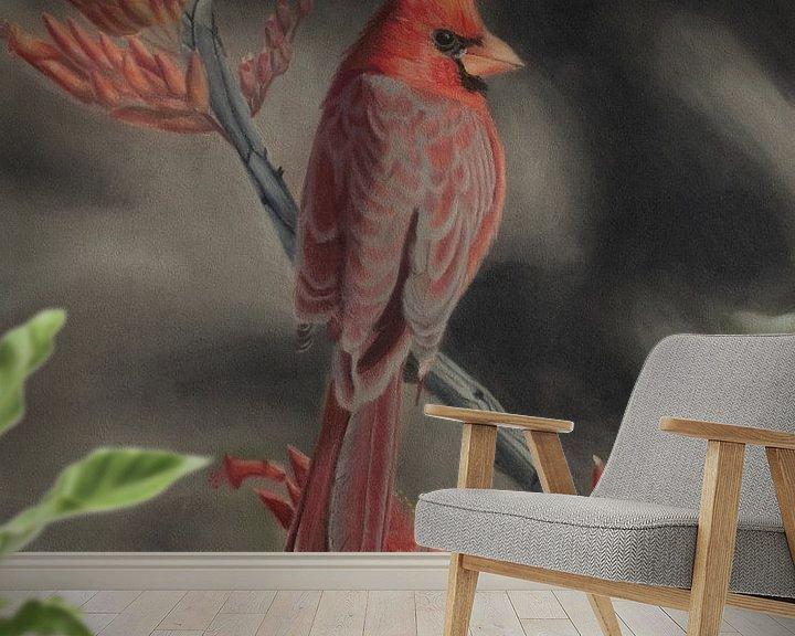 Beispiel fototapete: Roter Kardinal von sabrina van lijsdonk