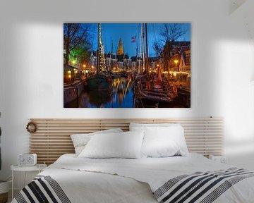 Hoge der A in Groningen von der Vissersbrug von Annie Jakobs