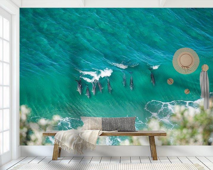Beispiel fototapete: Delfine - Byron Bay - Australien von Jiri Viehmann