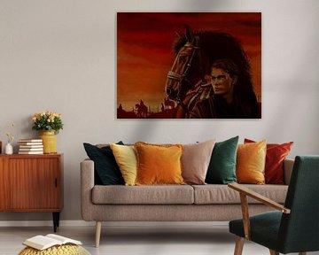 Kriegspferd Joey und Albert Malerei von Paul Meijering