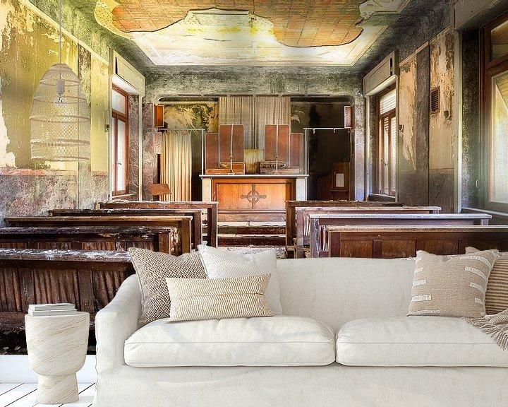 Impression: Chapelle abandonnée en ruine. sur Roman Robroek