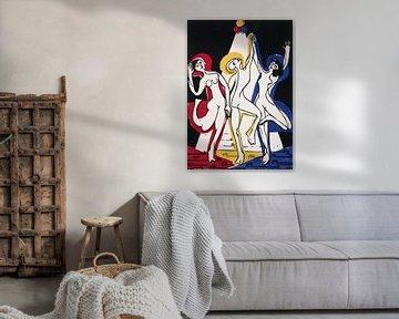Farben-Tanz, Ernst Ludwig Kirchner1933 von Atelier Liesjes