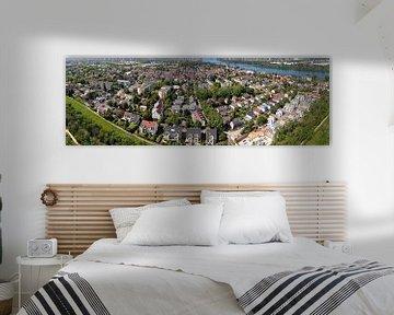 District Weisenau de la ville de Mayence, panorama aérien sur menard.design - (Luftbilder Onlineshop)