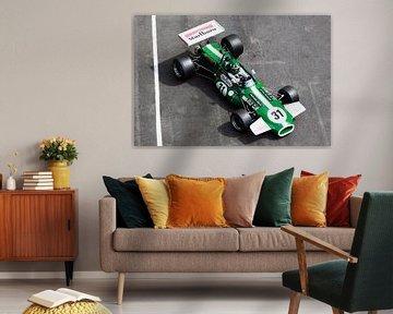 Voiture de course de Formule 2 sur MSP Canvas