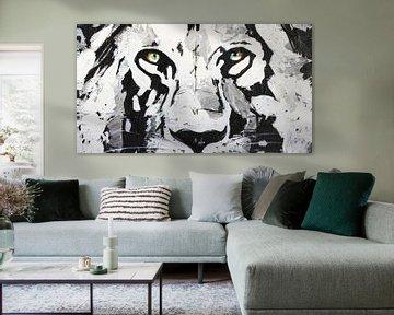 Die Augen des Löwen von Kathleen Artist Fine Art