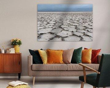 Abstract zout landschap in de Danakil woestijn   Ethiopië van Photolovers reisfotografie