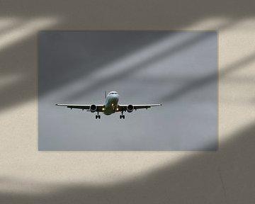 Landend vliegtuig van Tom Van Dyck