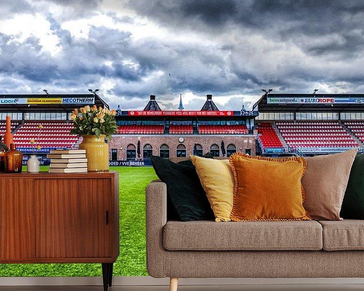 Beispiel fototapete: Sparta-Stadion - Die Burg von Sylvester Lobé