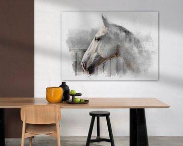 Le cheval blanc 01 sur Olaf Bruhn