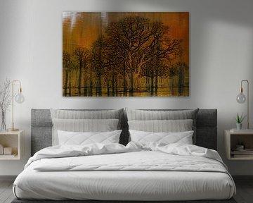 impressionistische Bäume im Wasser von Herman Kremer