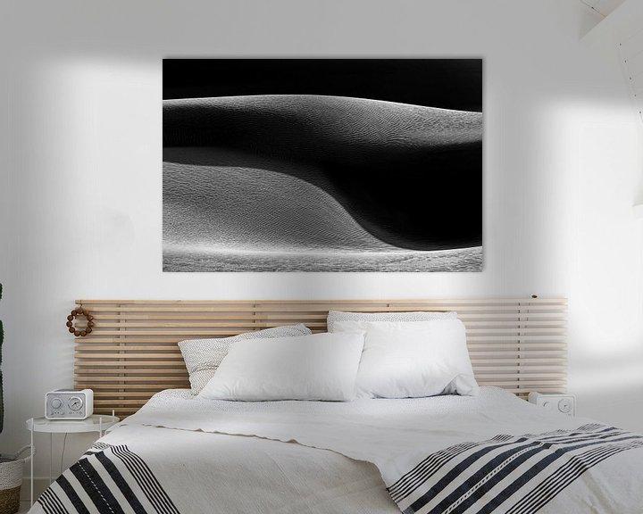 Sfeerimpressie: Zandduin in zwart-wit met schaduw   Iran van Photolovers reisfotografie