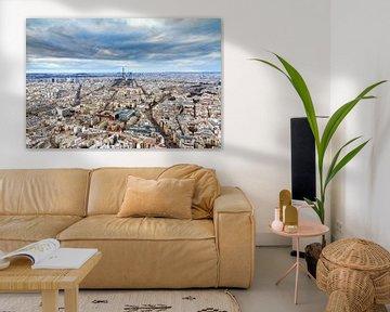 Uitzicht over Parijs van Dennis van de Water