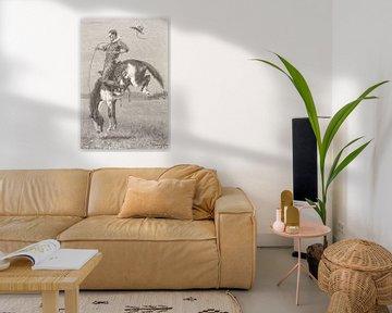"""Boxen-Wildpferd """"Bronco"""", 1888 von Atelier Liesjes"""