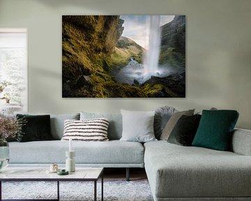 IJslandse waterval van Stefan Schäfer
