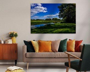 landschap aan het water van Frank Ketelaar
