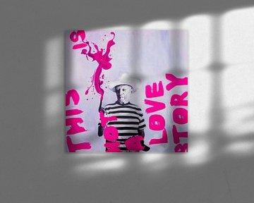 This is not a love Story - Motiv Pablo Picasso - Pink von Felix von Altersheim