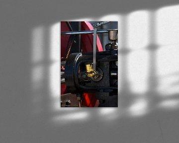 Verschiedene Teile einer Dampfmaschine in Nahaufnahme. 1 von Christophe Fruyt