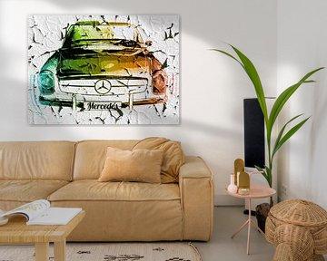 Grunge Mercedes Artwork von Nicky`s Prints