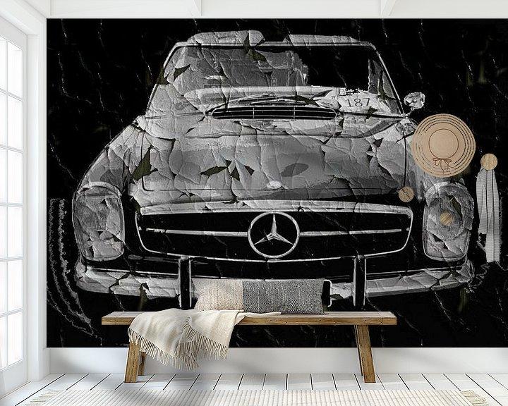 Beispiel fototapete: Grunge Zwarte Mercedes von Nicky`s Prints