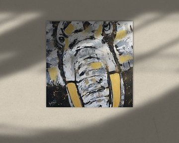 Elefantenkopf von Kathleen Artist Fine Art