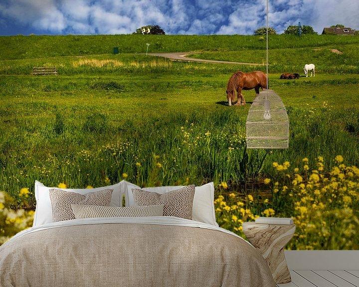 Sfeerimpressie behang: Hollandse Landschappen. van Brian Morgan