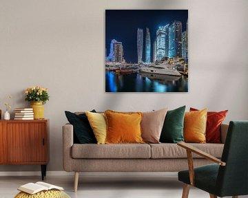 Dubai Jachthavennacht van Stefan Schäfer