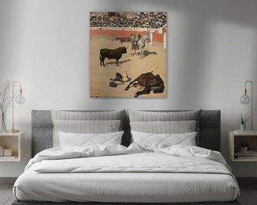 Stiere (tote Pferde), 1886 von Atelier Liesjes