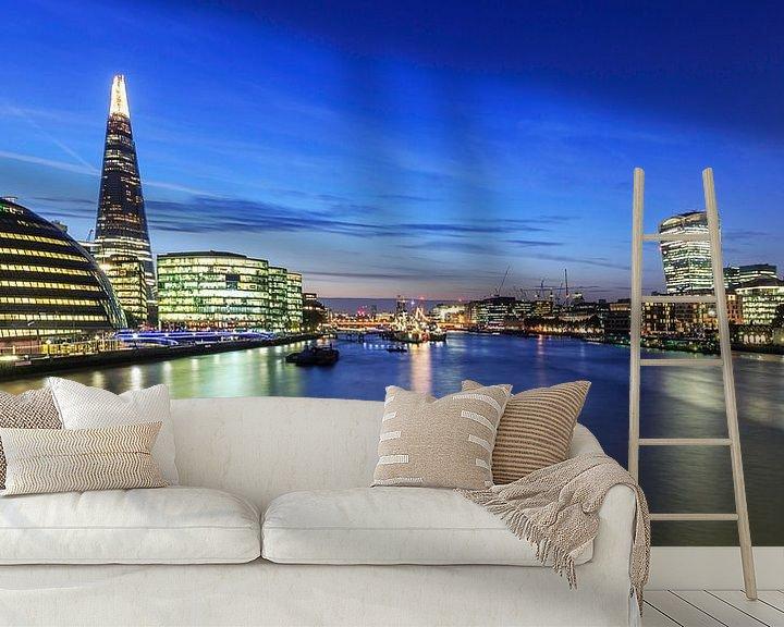 Sfeerimpressie behang: Londense skyline van Frank Herrmann