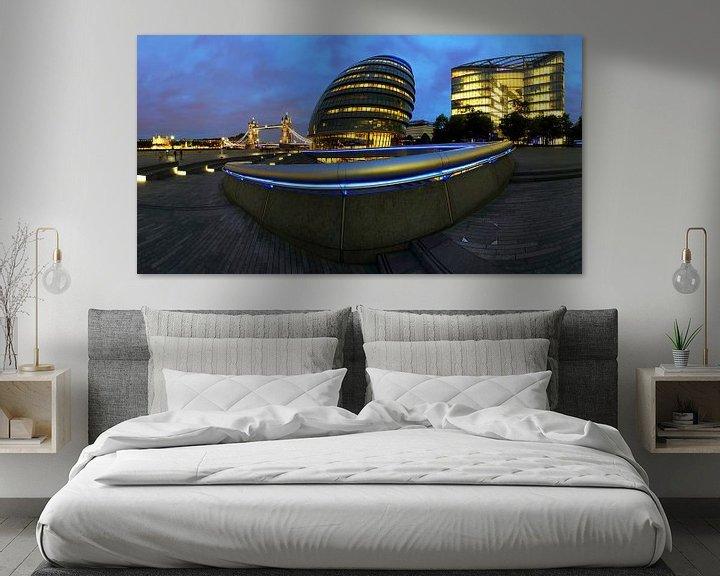 Impression: Le Skyline de Londres avec le Tower Bridge sur Frank Herrmann