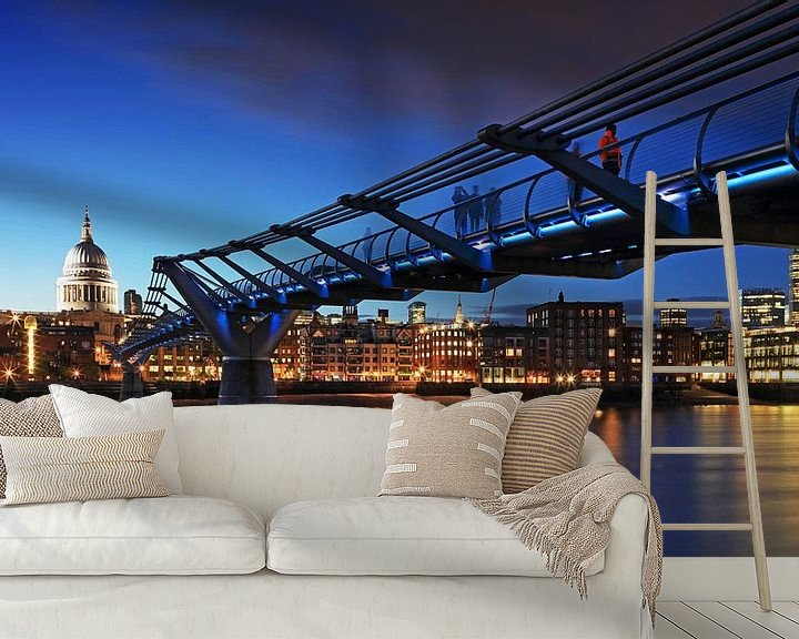 Impression: Millennium Bridge et la cathédrale St Paul (Londres) sur Frank Herrmann