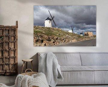 Don Quijote-Windmühlenlandschaft in Spanien. von Carlos Charlez
