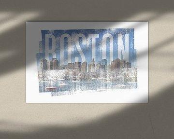 BOSTON Skyline | Vintage von Melanie Viola