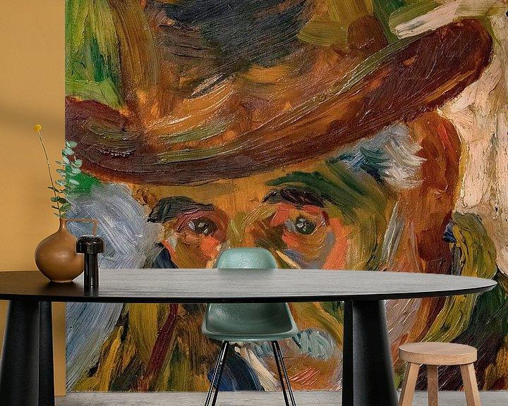 Beispiel fototapete: Umberto Boccioni, Kopf eines alten Mannes - 1909 von Atelier Liesjes