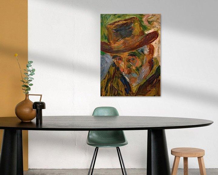 Beispiel: Umberto Boccioni, Kopf eines alten Mannes - 1909 von Atelier Liesjes