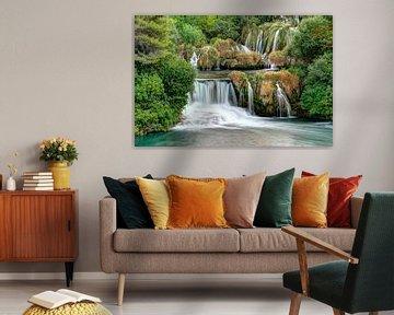 Wasserfall im Nationalpark Krka, Kroatien von Wim Slootweg