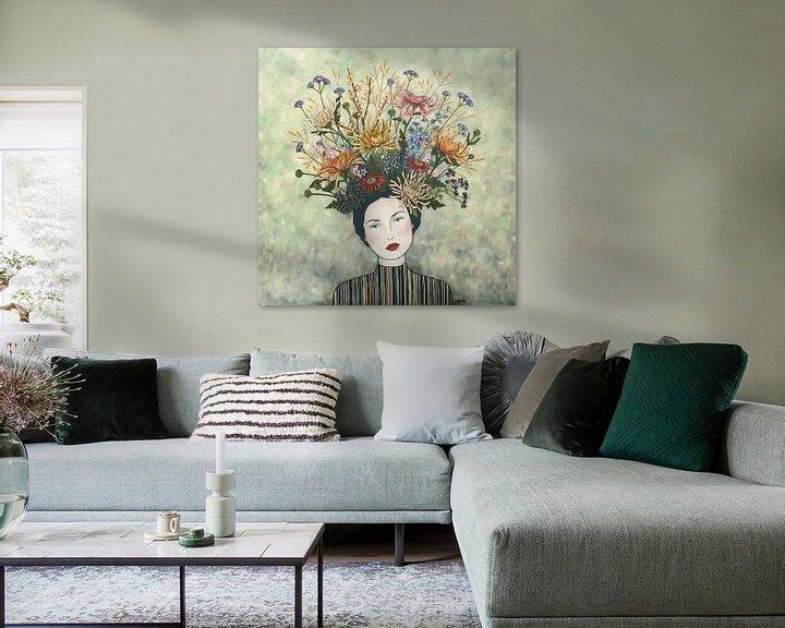 Beispiel: Blumen in meinem Kopf (Nr.2020-06) von Kris Stuurop
