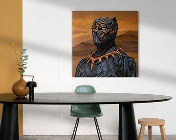 Black Panther Schilderij van Paul Meijering